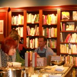 "Chatting and signing ""Fabbrica"" for guests"