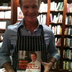 "Chef Mark with his latest cook book ""Fabbrica"""